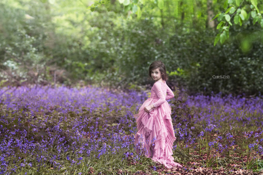 outdoor photoshoot bluebells london